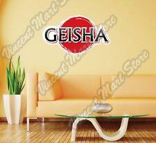 "Geisha Japanese Female Girl Japan Wall Sticker Room Interior Decor 25""X14"""