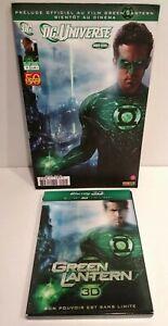 Lot Green Lantern Blu Ray 3D & 2D Zone B + Comics BD Prelude du film