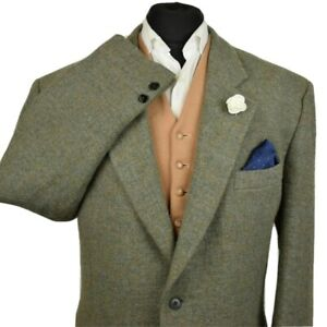 Harris Tweed Tailored Country Textured Blazer Jacket 46R #168 SUPERB COLOURS
