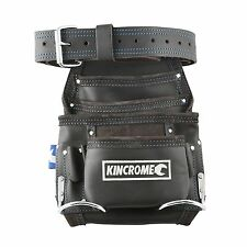 Kincrome LEATHER SINGLE POUCH NAILBAG TOOL BELT, K7472, 10 Pockets 50mm Loop