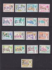 Bermuda. SG 163-179, 1d to £1. Unmounted mint.