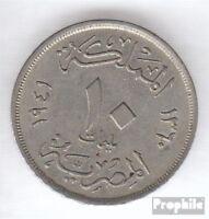 Ägypten KM-Nr. : 364 1938 sehr schön Kupfer-Nickel 1938 10 Milliemes Farouk