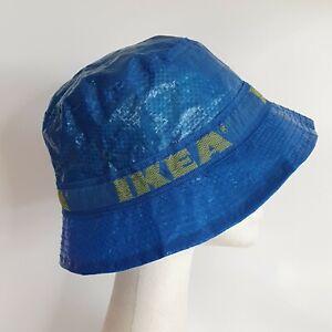 IKEA Blue Lined Bucket Hat Limited Edition KNORVA Frakta Brand New Free Postage