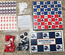 NFL Checkers, Denver Broncos vs Kansas City Chiefs-Board Game-1993 Never Played