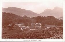 Real Photo Vint Postcard ELTERWATER & LANGDALE PIKES Atkinson & Pollitt Kendal