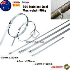 Heavy Duty Stainless Steel Metal Cable Zip Ties Strap Locking Exhaust Pipe Tie