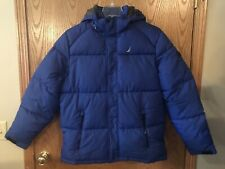 Nautica Men Winter Jacket Removable Hooded Water Resistant Jacket,Blue 2X-Large
