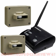 Wireless Alarm Motion Sensor 2 Outdoor Alert Security System Detector Driveway