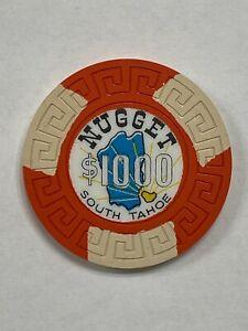 NUGGET CASINO SOUTH TAHOE NEVADA $1000 CASINO CHIP