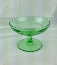 green depression glass sherbet green sherbet with etchings