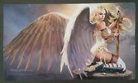 Sexy Serra Angel Play Mat MTG SIGNED by Douglas Shuler Magic the Gathering