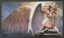 SEXY SERRA ANGEL Play Mat MTG SIGNED by Douglas Schuler Magic the Gathering
