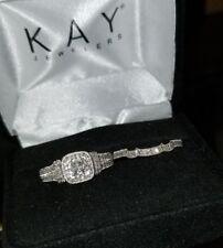 $1589-Kay Jewelers 14k White gold Diamond Engagement wedding enhancer ring set