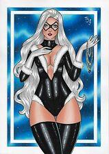 """Black Cat (09""""x12"""") original and unique 1/1 comic art by Thiago Freire"""