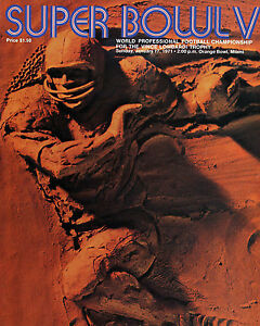Cowboys vs Colt Super Bowl V (1971) Program Cover (Mini Poster)  8x10 Photo
