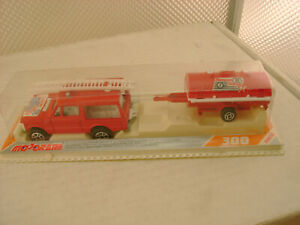 MAJORETTE HO SCALE #376 RANGE ROVER WITH TRAILER RESCUE TEAM NEW SEALED PACKAGE