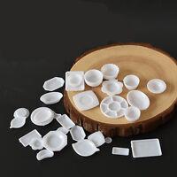 33 Pcs Miniature 1:12 Scale Dollhouse Kitchen Tableware Plastic Plates Nice hot