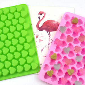 55 Love Heart Silicone Chocolate Mould Candy Cookies Ice Jelly Tray Mold DIY