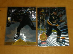 Lot of 2 - MARIO LEMIEUX 1994-95 1996-97 Pinnacle Rink Collection