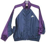 Vintage Nike Gray Tag Windbreaker Jacket Mens Size L Blue Purple White NEAR MINT