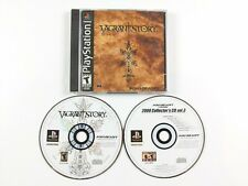Vagrant Story (Sony PlayStation 1, 2000) PS1 Black Label Missing Front Cover