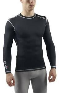 Sub Sports Cold Compression Mens Long Sleeve Top Black THERMAL Baselayer Medium