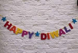 HAPPY DIWALI BANNER. Diwali festival banner bunting Colourful Diwali decorations