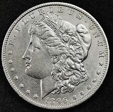 1896-o Morgan Silver Dollar.  A.U.  (Inv. B)