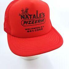 Vintage Red Truckers Cap Hat Natale Pizzeria Waldwick Nj Designer Award Headwear