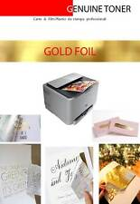 transfer GOLD foil; lamination on laser printed (5 sheets A4 size)