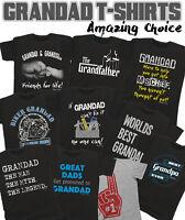 GRANDAD T-Shirt Mens Fathers Day Gift Choice Birthdays Christmas Grandfather