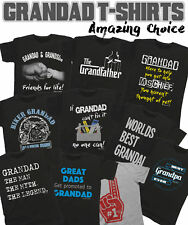 GRANDAD T-Shirt Birthdays Christmas Fathers Day Grandfather *Choose Your Design*