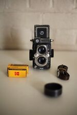 YASHICA 44 Twin Lens Reflex ~ Blue-Grey ~ Excellent Fully Working Condition