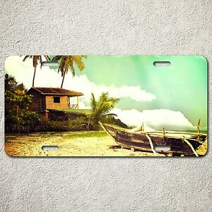 LP0024 Car License Plate Tropica Beach Vacation Trip Room Decoration Gift Sign