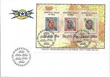 1993 FDC Stamp Day Miniature Sheet as Issued FDI 09-10-1993