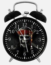 "Pirates of the Caribbean Alarm Desk Clock 3.75"" Home or Office Decor Z165"