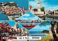 Cartolina Sirmione vedute Motoscafo Riva