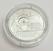 1986 100 Francs *SILVER* Republique Francaise Statue Of Liberty Coin *FRANCE*