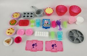 Barbie Dream House Clip on Kitchen Food Accessories Lot of 27