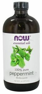 Now Foods 100% Pure Essential Peppermint Oil 16 oz Repel Mice Mouse Mold 05/23EX