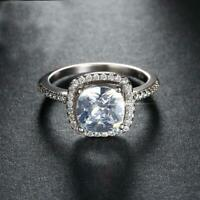 Silver 1. Ct Cubic Zirconia Engagement Promise Simulation Ring RS12