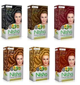 Nisha Creme Hair Color No Ammonia Creme Developer Conditioner 60 GM 90 ML 12 ML