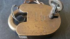 large vintage longhurst & andrew 4 lever 1943 ww2  padlock with key