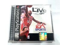 NBA Live 98 (Sony PlayStation 1, Black Label) CIB PS1 COMPLETE Tested + Working