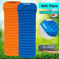 Naturehike Inflatable Camping Hiking  Mattress Air Bed Sleeping Mat Pad w Pillow