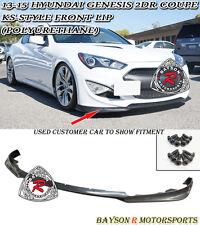 KS-Style Front Lip (Urethane) Fits 13-16 Hyundai Genesis Coupe 2dr