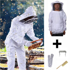 Beekeepers Schutzanzug Imkerjacke Hut Schleier Pinsel Imkerei Handschuhe
