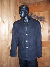 Kanji Black Men's Cotton Dress Jacket with studded Eagle emblem  NEW with Tag