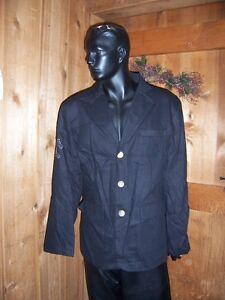 Kanji Black Men's Cotton Dress Jacket studded Eagle emblem XL 2XL NEW with Tag