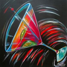 """JAMES WING """"COSMO MARTINI"""" Hand Signed Giclee Art on Canvas"""